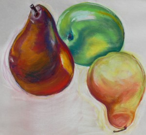 Fall Fruit, pastel by Annie Fox