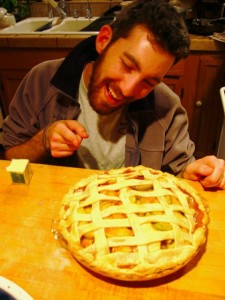 Ezra Fox makes a pie (from scratch) for Thanksgiving