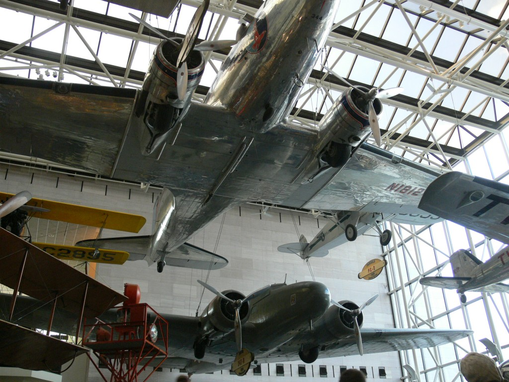 Douglas DC-3 (top-center)