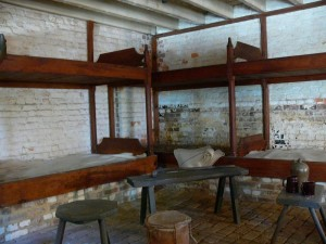 Inside the slave quarters at Mt. Vernon