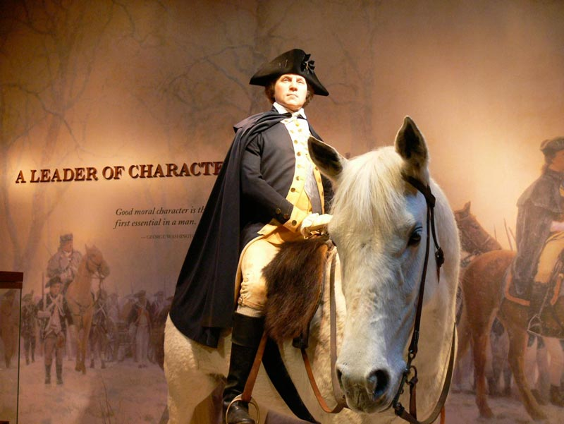 Recreation of General Washington at age 45