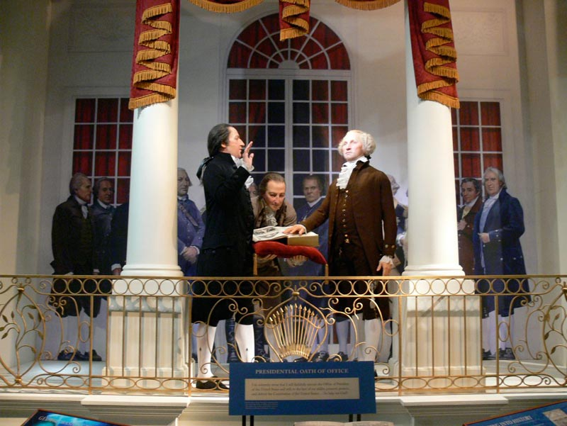 George Washington, taking the Oath of Office, New York, 1789