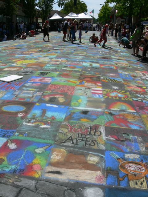 Children's section, Italian Street Painting Festival