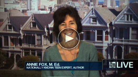 Annie Fox on FoxNews.com Live talking about teen sex in the family home