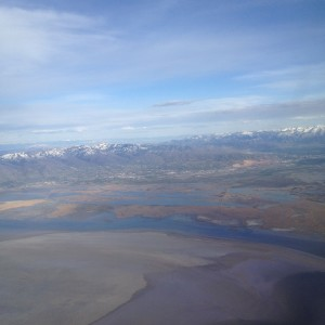 Approach to Great Salt Lake City