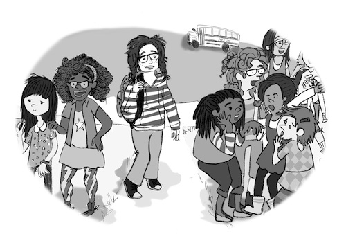 Girls' Friendship Q&A Book, iIllustration by Erica DeChavez
