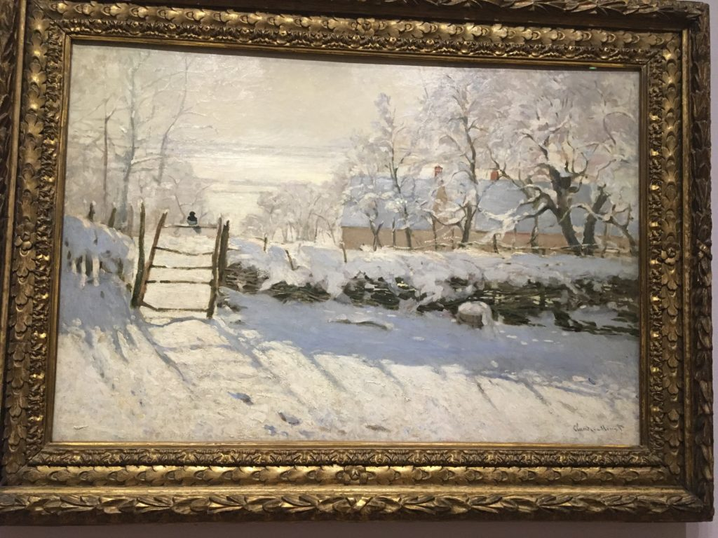The Magpie (1869) Oil on Canvass by Claude Monet